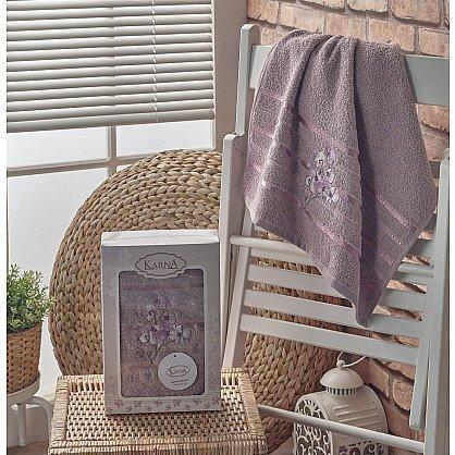 """Полотенце махровое в коробке """"KARNA PAPILON"""", светло-лаванда, 50*90 см (kr-103009), фото 1"""