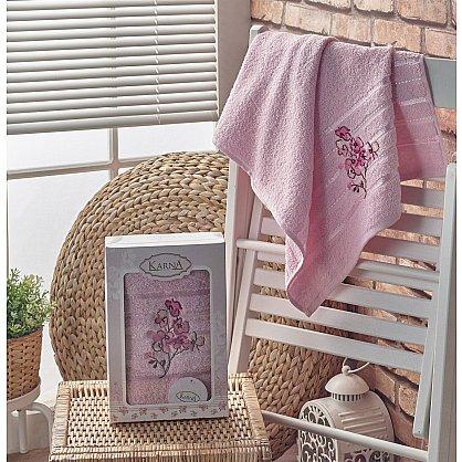 "Полотенце махровое в коробке ""KARNA PAPILON"", светло-розовый, 50*90 см (kr-103008), фото 1"