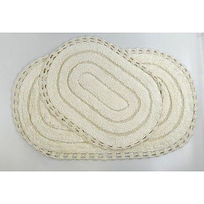 "Набор ковриков для ванной кружевной ""MODALIN YANA"" (60x100; 50x70), кремовый (kr-5026-CHAR002), фото 1"