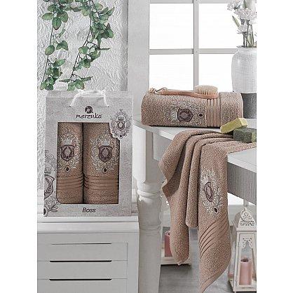 Комплект махровых полотенец MERZUKA BOSS (50*80; 70*130), коричневый (mt-103535), фото 1