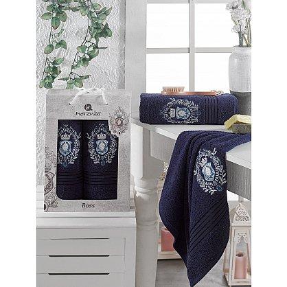 Комплект махровых полотенец MERZUKA BOSS (50*80; 70*130), синий (mt-103533), фото 1