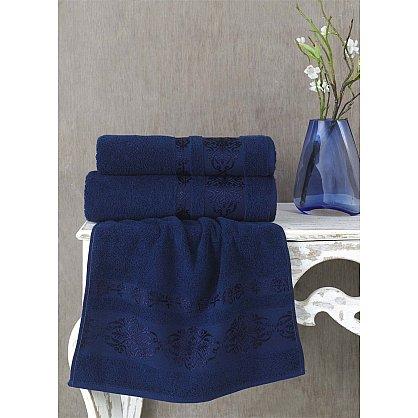 """Полотенце махровое """"KARNA REBEKA"""", синий (kr-200193-gr), фото 1"""