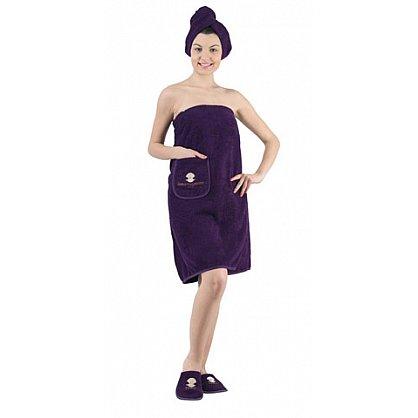 """Комплект для сауны женский """"KARNA PARIS"""", фиолетовый (kr-325-CHAR010), фото 1"""