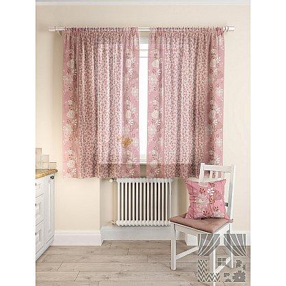 Комплект штор для кухни Фишт (розовый), 180 см (235476-t), фото 2