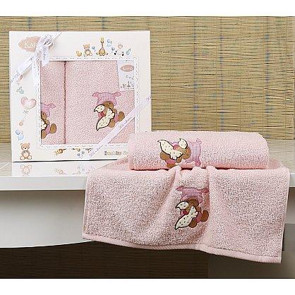 "Комплект полотенец детский ""KARNA BAMBINO-TEDDY"" (50*70; 70*120), розовый (kr-2133-CHAR004), фото 1"