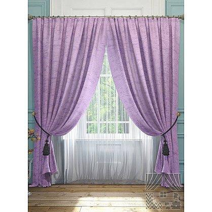 """Комплект штор """"Элисс"""", фиолетовый, 260 см-A (233576-t-A), фото 2"""