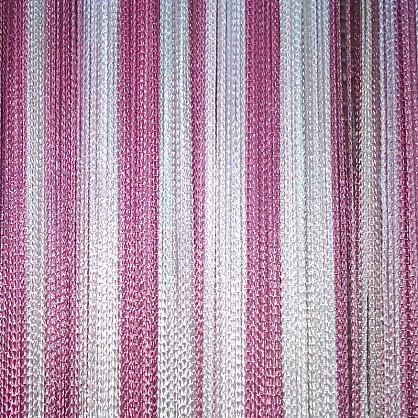 Кисея нитяная штора на кулиске радуга №132 (R-132), фото 1