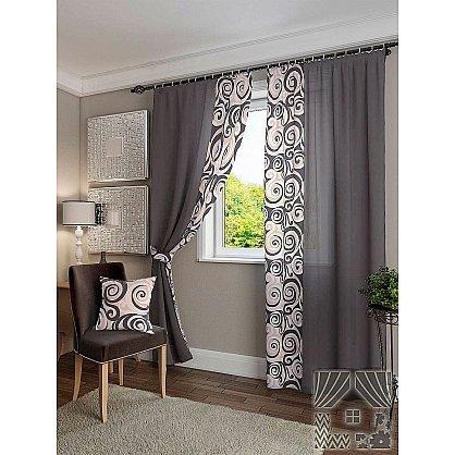 """Комплект штор """"Хенди"""", серо-черный, 280 см (233564-t), фото 2"""