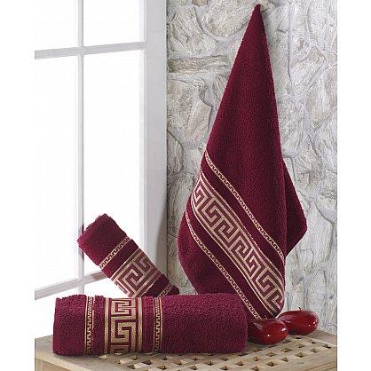 """Полотенце махровое с жаккардом """"KARNA ITEKA"""", бордовый, 90*150 см (kr-103031), фото 1"""