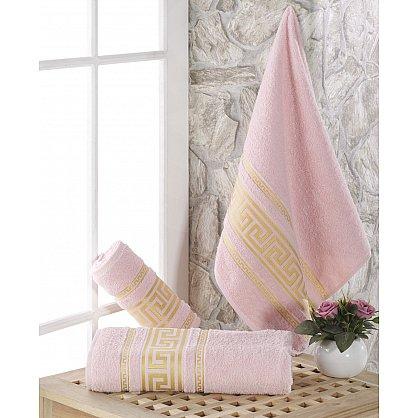 """Полотенце махровое с жаккардом """"KARNA ITEKA"""", светло-розовый, 90*150 см (kr-103029), фото 1"""