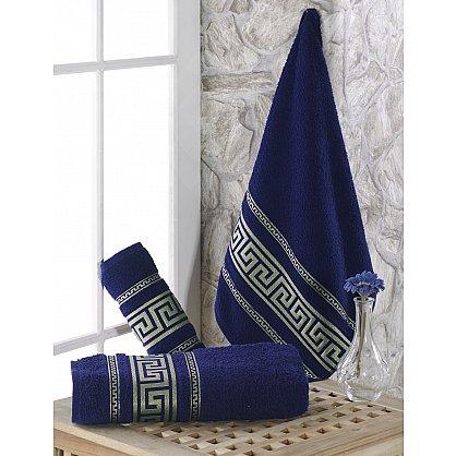 """Полотенце махровое с жаккардом """"KARNA ITEKA"""", синий, 90*150 см (kr-103033), фото 1"""