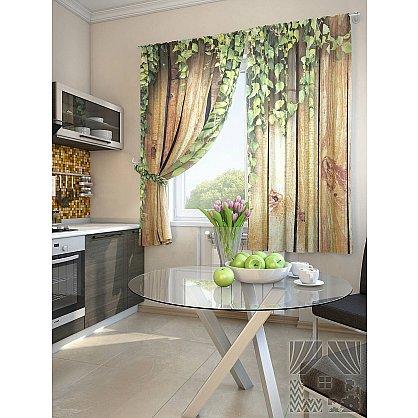 """Фотошторы для кухни """"Кенд"""", коричневый, 180 см-A (233421-t-A), фото 1"""