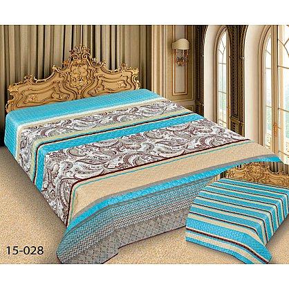 Покрывало Barokko №15-028, бирюзовый, бежевый, 200*220 см-A (mn-15-028-200-A), фото 1
