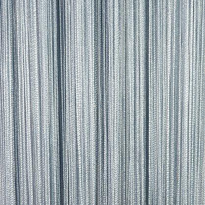 Кисея нитяная штора на кулиске серебро - Серая (L-150), фото 1