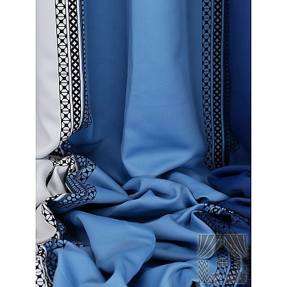 """Комплект штор """"Бахт"""", синий, голубой, 260 см (233348-t), фото 2"""