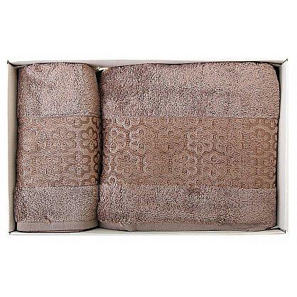 """Набор полотенец """"Milano"""", коричневый, 2 шт. (F-milano-kor), фото 2"""