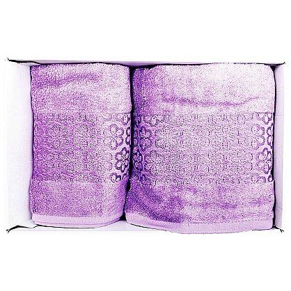 """Набор полотенец """"Milano"""", фиолетовый, 2 шт. (F-milano-fiol), фото 2"""