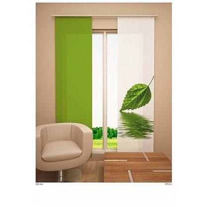 """Японская штора цветная """"Зеленый листок"""" (W67-163-262-gr), фото 1"""