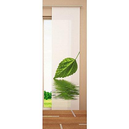 """Японская штора цветная """"Зеленый листок"""" (W67-163-262-gr), фото 2"""
