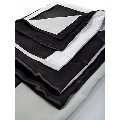 Комплект портьер №026 Черный, Молочный (rt-100149), фото 5