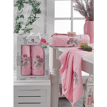 Комплект махровых полотенец MERZUKA ANEMONE (50*80; 70*130), светло-розовый (mt-103520), фото 1
