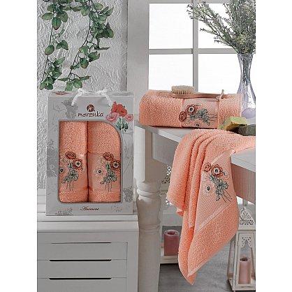 Комплект махровых полотенец MERZUKA ANEMONE (50*80; 70*130), оранжевый (mt-103517), фото 1