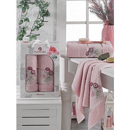Комплект махровых полотенец MERZUKA ANEMONE (50*80; 70*130), розовый (mt-103518), фото 1