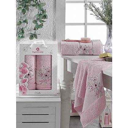 Комплект махровых полотенец MERZUKA BELLA (50*80; 70*130), розовый (mt-103522), фото 1