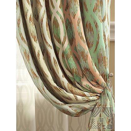 Комплект штор Робиш (персиково-зеленый), 280 см (235402-t), фото 2