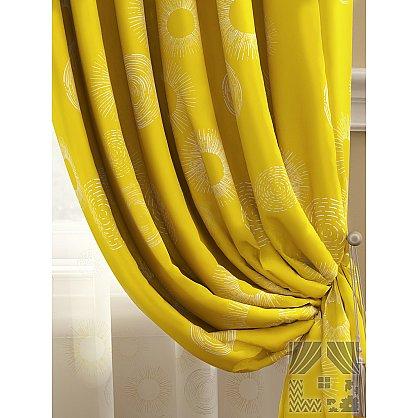 Комплект штор Велор (желтый), 280 см (235420-t), фото 2