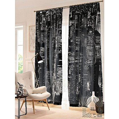 Фотошторы Черно-белый Нью-Йорк, черный, 260 см (235333-t), фото 1