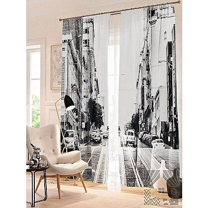 Фотошторы Черно-белый Сан-Франциско, черный, белый, 260 см (235371-t), фото 1