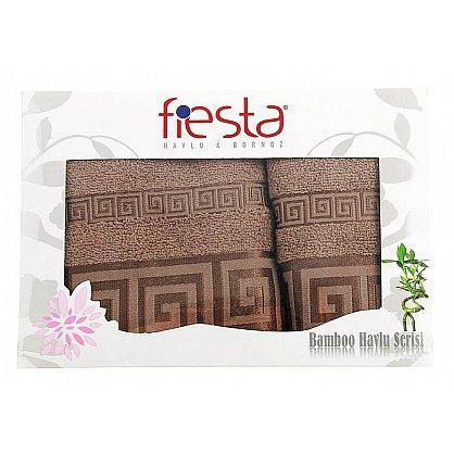 """Набор полотенец """"Versace cotton"""", коричневый 50*90 см, 70*140 см, 2 шт. (F-versace-cott-kor ), фото 1"""