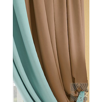 "Комплект штор ""Фонти"" (коричнево-бирюзовый), 320 см (235516-t), фото 2"
