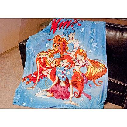 Плед Микрофибер №33, голубой, оранжевый, 150*200 см (tg-3002-33), фото 1