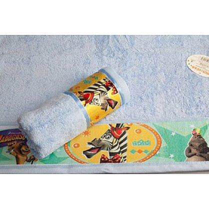 "Полотенце махровое 60*130 ""Непоседа"" Мадагаскар Марти голубой (218708), фото 2"