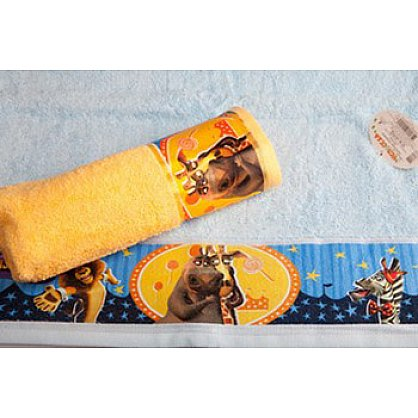 "Полотенце махровое 35*70 ""Непоседа"" Мадагаскар Мелман голубой (218689), фото 2"