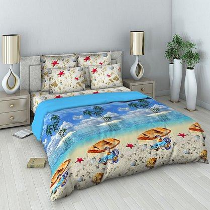 """Комплект постельного белья """"Райский остров"""" 301 (евро) (096997), фото 1"""