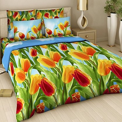 """Комплект постельного белья """"Тюльпаны"""" 315 (1.5 спальное) (104991), фото 1"""