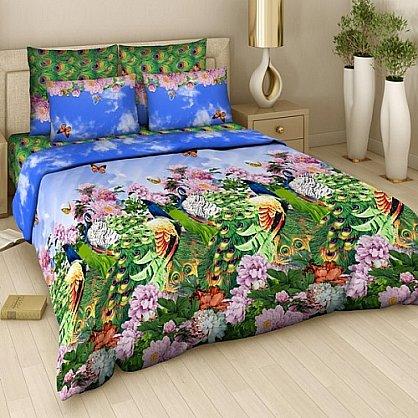 """Комплект постельного белья """"Павлины"""" 316 (евро) (104510), фото 1"""