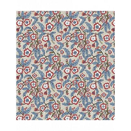 """Комплект штор """"Орнамент из лепестков"""", голубой, красный, 260 см (s-4397), фото 2"""
