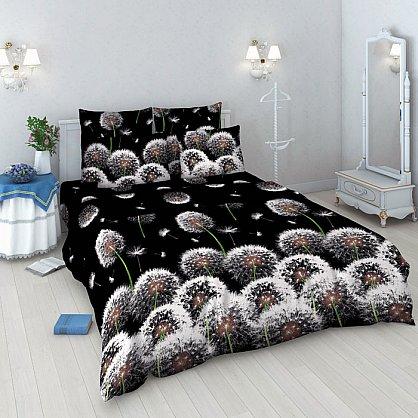 """Комплект постельного белья """"Белые одуванчики"""" 3412 (евро) (3412-e), фото 1"""