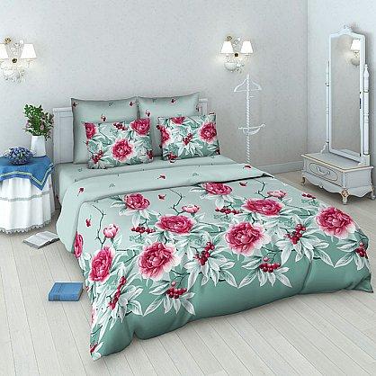 """Комплект постельного белья """"Пион и барбарис-1"""" 3442-1 (v-3442-1), фото 1"""