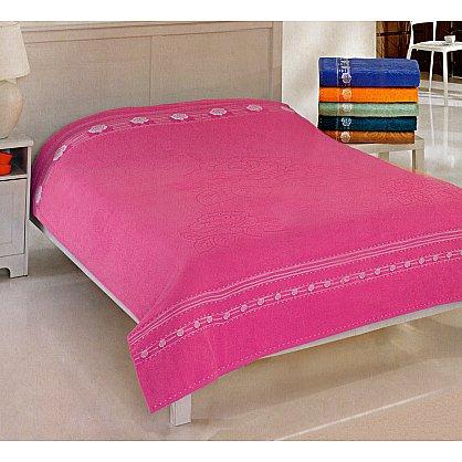Простынь махровая Rose Cotton, розовая (tg-200171-gr), фото 1