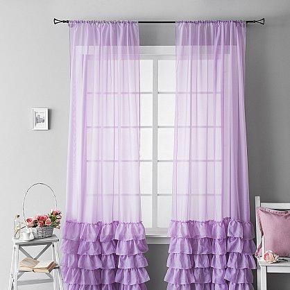 """Комплект штор """"Ноа Фиолетовый"""", 145*270 см (ml-100660), фото 1"""