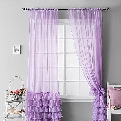 """Комплект штор """"Ноа Фиолетовый"""", 145*270 см (ml-100660), фото 3"""