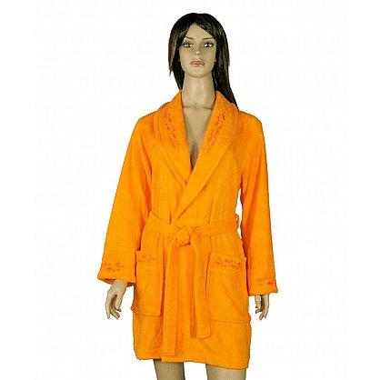 Халат женский Мила, Оранжевый, р. S (44) (tg-100009), фото 1