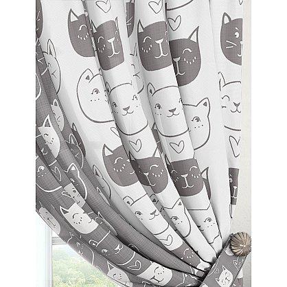 """Комплект штор """"Ксилис (серый)""""-A (237395-t-A), фото 2"""