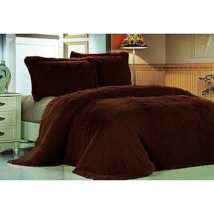 Покрывало меховое Лама коричневая, 220*240 см-A (tg-DCT072D-3-2025-A), фото 1