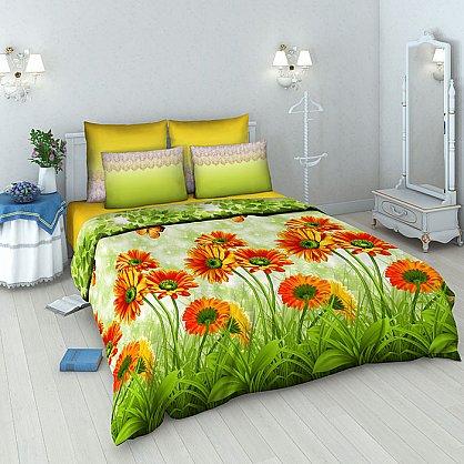 """Комплект постельного белья """"Герберы"""" 4200 (евро) (098713), фото 1"""
